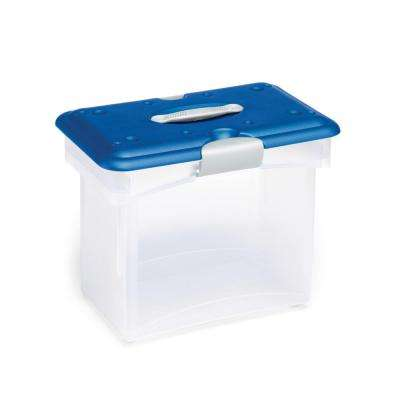 Tote-n-Go File Box Clear Storage (Set of 4)