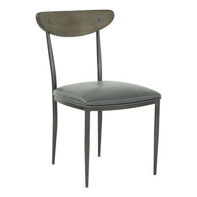 Davis Grey Mineral Faux Leather Dining Chair (Set of 2)