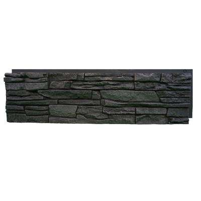 Stacked Stone Iron Ore 12 in. x 42 in. Faux Stone Siding Panel