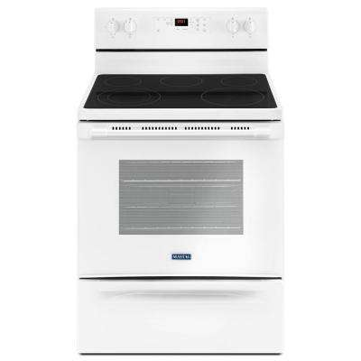 5.3 cu. ft. Wide Electric Range with Shatter-Resistant Cooktop in White