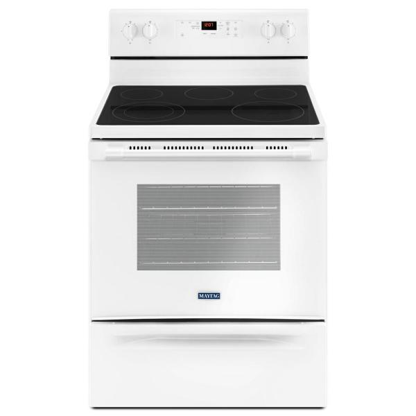 5.3 cu. ft. Electric Range with Shatter-Resistant Cooktop in White
