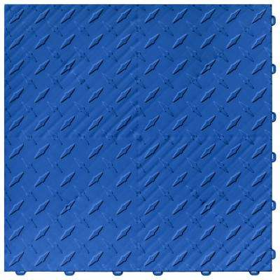 15.75 in. x 15.75 in. Royal Blue Diamond Trax 25-Tile Modular Flooring Pack (43 sq. ft./case)