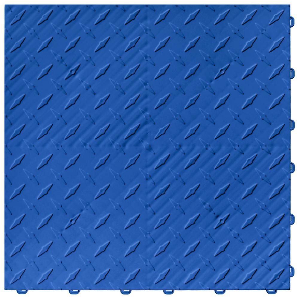 15.75 in. x 15.75 in. Royal Blue Diamond Trax 25-Tile Modular Flooring Pack (43 sq. ft. / case)