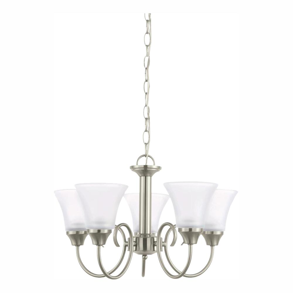 Sea Gull Lighting Holman 5-Light Brushed Nickel Chandelier with LED Bulbs