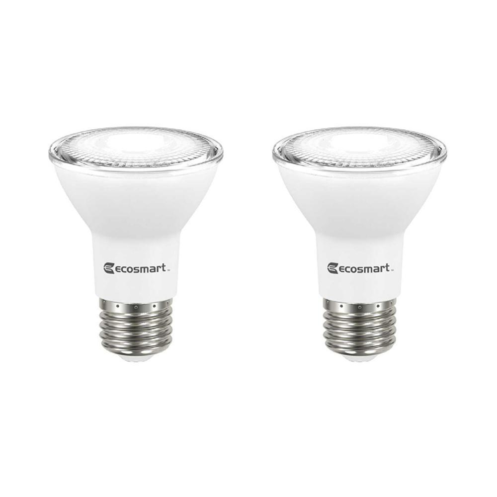 50-Watt Equivalent PAR20 Dimmable LED Flood Light Bulb, Bright White (2-Pack)