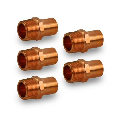 """25 1//2/"""" C x 3//8/"""" Male NPT Threaded Copper Adapters"""