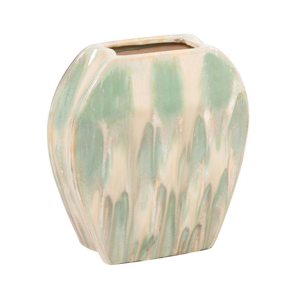 Ceramic Green Decorative Vase Small