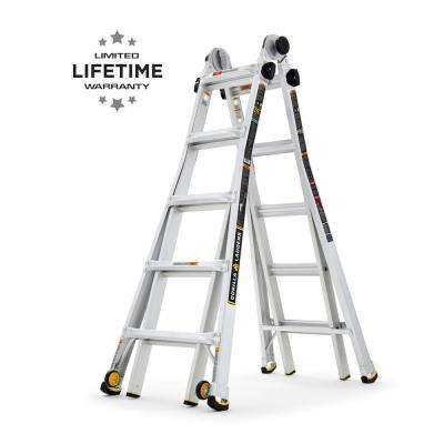 22 ft. Reach MPX Aluminum Multi-Position Ladder with Wheels, 375 lbs. Load Capacity Type IAA Duty Rating