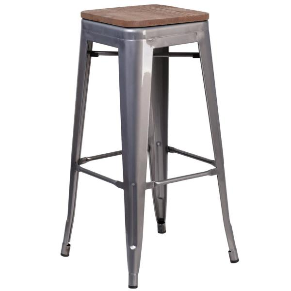 Flash Furniture Clear Coated Bar Stool