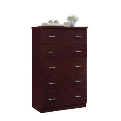 5-Drawer Mahogany Jumbo Chest
