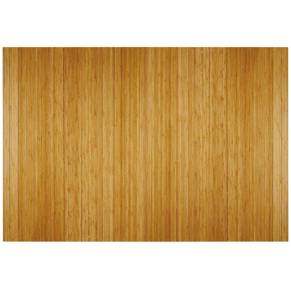 Deluxe Natural Light Brown 48 in. x 72 in. Bamboo Roll-Up