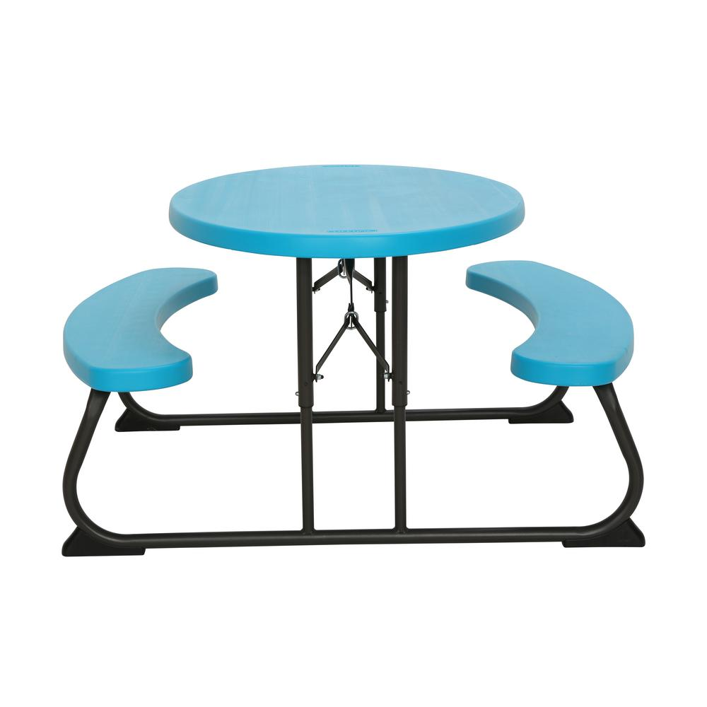 Marvelous Lifetime Glacier Blue Kids Folding Picnic Table Download Free Architecture Designs Scobabritishbridgeorg