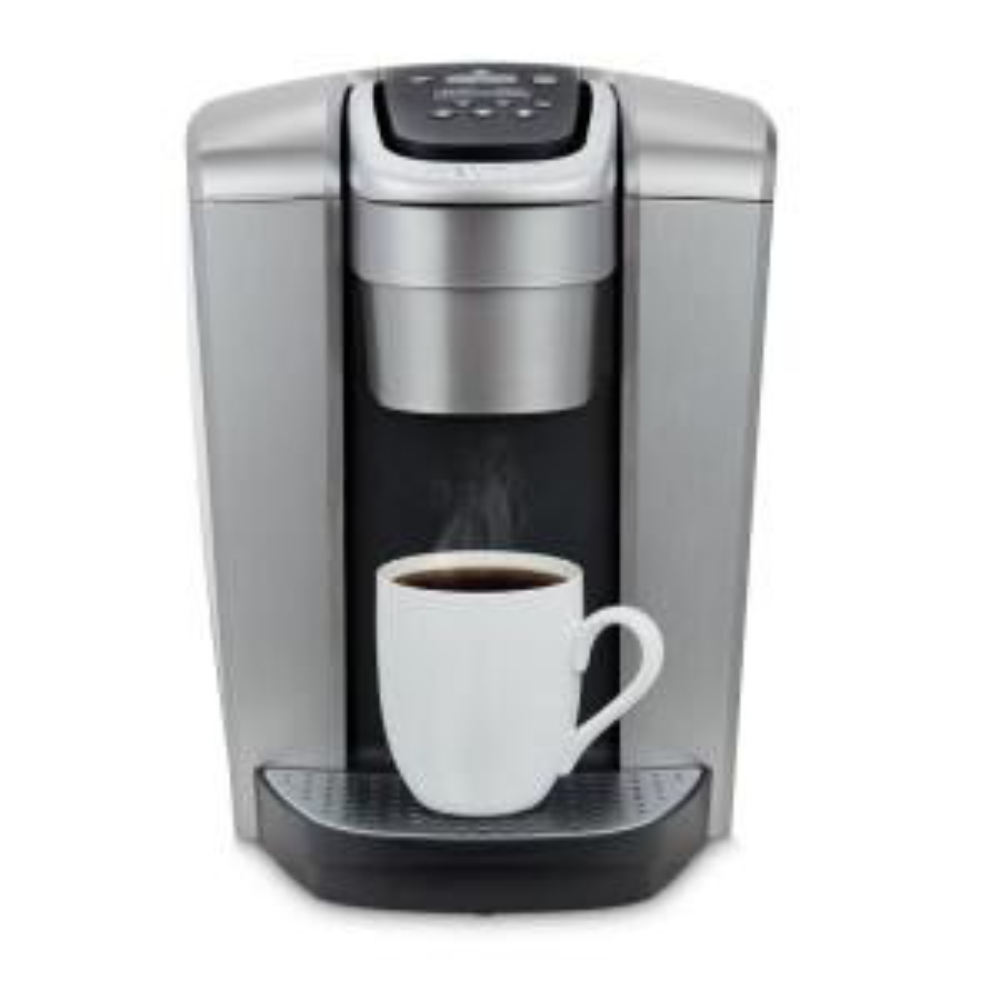 K-Elite Single Serve Coffee Maker in Brushed Silver