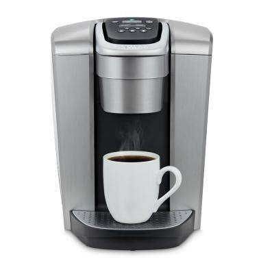 K-Elite Brushed Silver Serve Coffee Maker with Temperature Control
