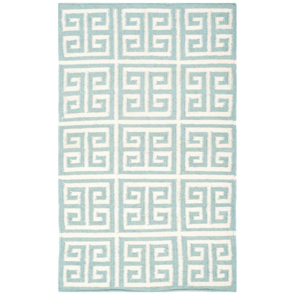 Dhurries Blue/Ivory 2 ft. 6 in. x 4 ft. Area Rug