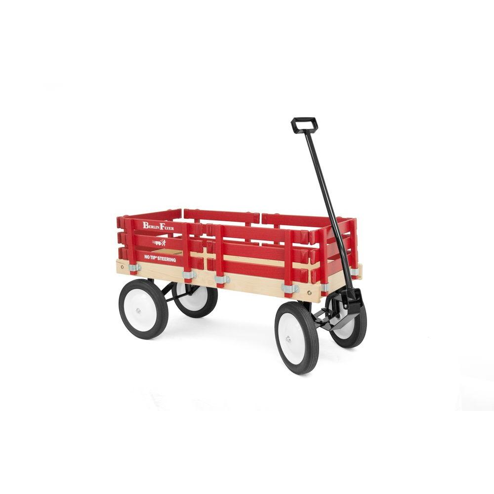 Wooden Red Wagon The Wagon