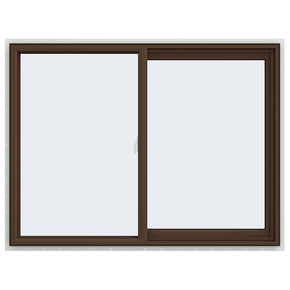 Bronze Vinyl Windows : Jeld wen in v series right hand