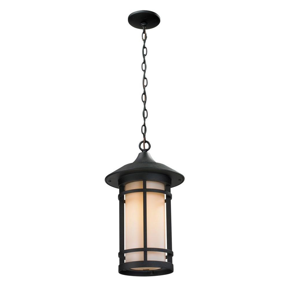 Grove 1-Light Black Outdoor Pendant