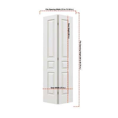 36 in. x 80 in. Avalon Primed Textured Hollow Core Molded Composite MDF Closet Bi-fold Double Door