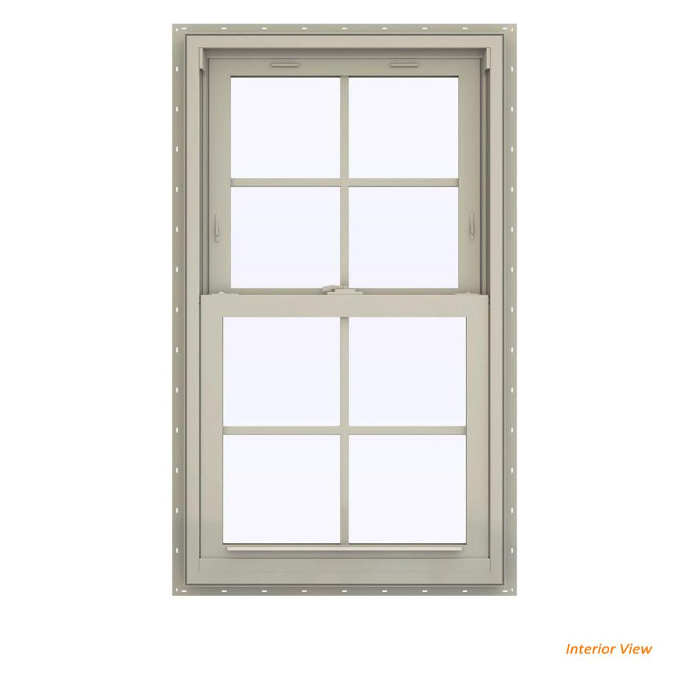 23.5 in. x 35.5 in. V-2500 Series Desert Sand Vinyl Double