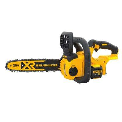 12 in. 20-Volt MAX Lithium-Ion Cordless Brushless Chainsaw (Tool Only)