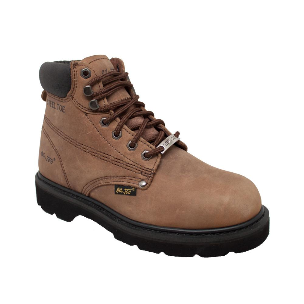 5818db68159f Adtec Men s Wide 12 Brown Full-Grain Oiled Leather Steel Toe Work Boot