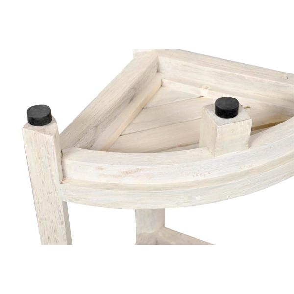 Oasis 2 Tier Teak Corner Shower Stool In Driftwood Ed1122 The Home Depot