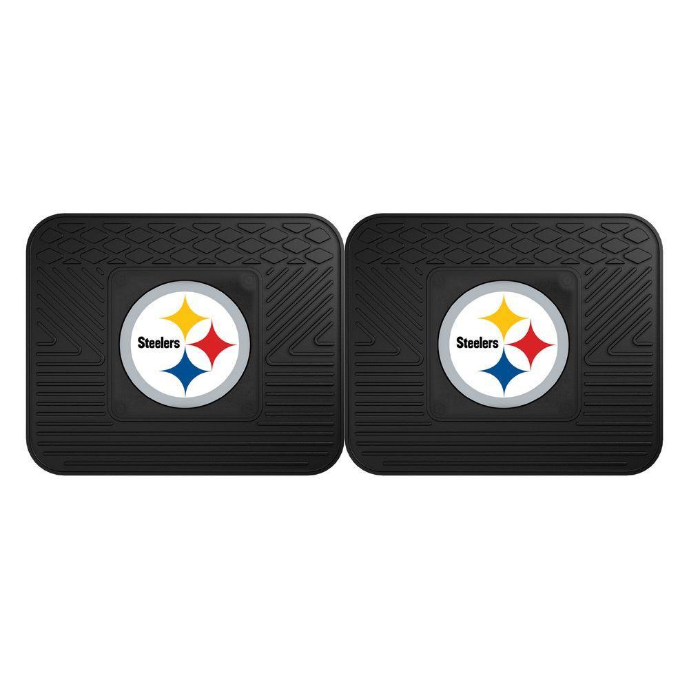 Fanmats Nfl Pittsburgh Steelers Black Heavy Duty 2 Piece