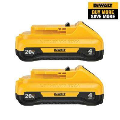 20-Volt MAX Lithium-Ion 4.0 Ah Compact Battery Pack (2-Pack)