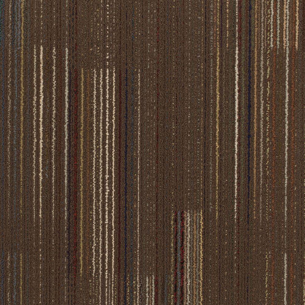 Contractor Dark Brown Loop 24 In X Modular Carpet Tile Kit