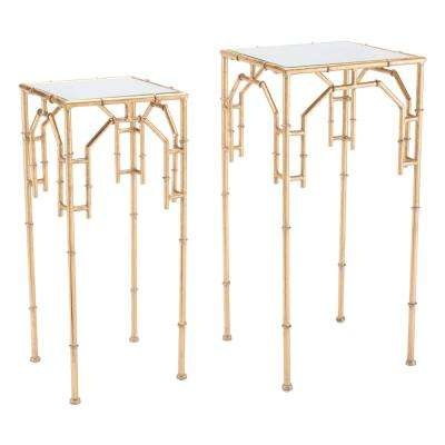Bamboo Gold Tables (Set of 2)