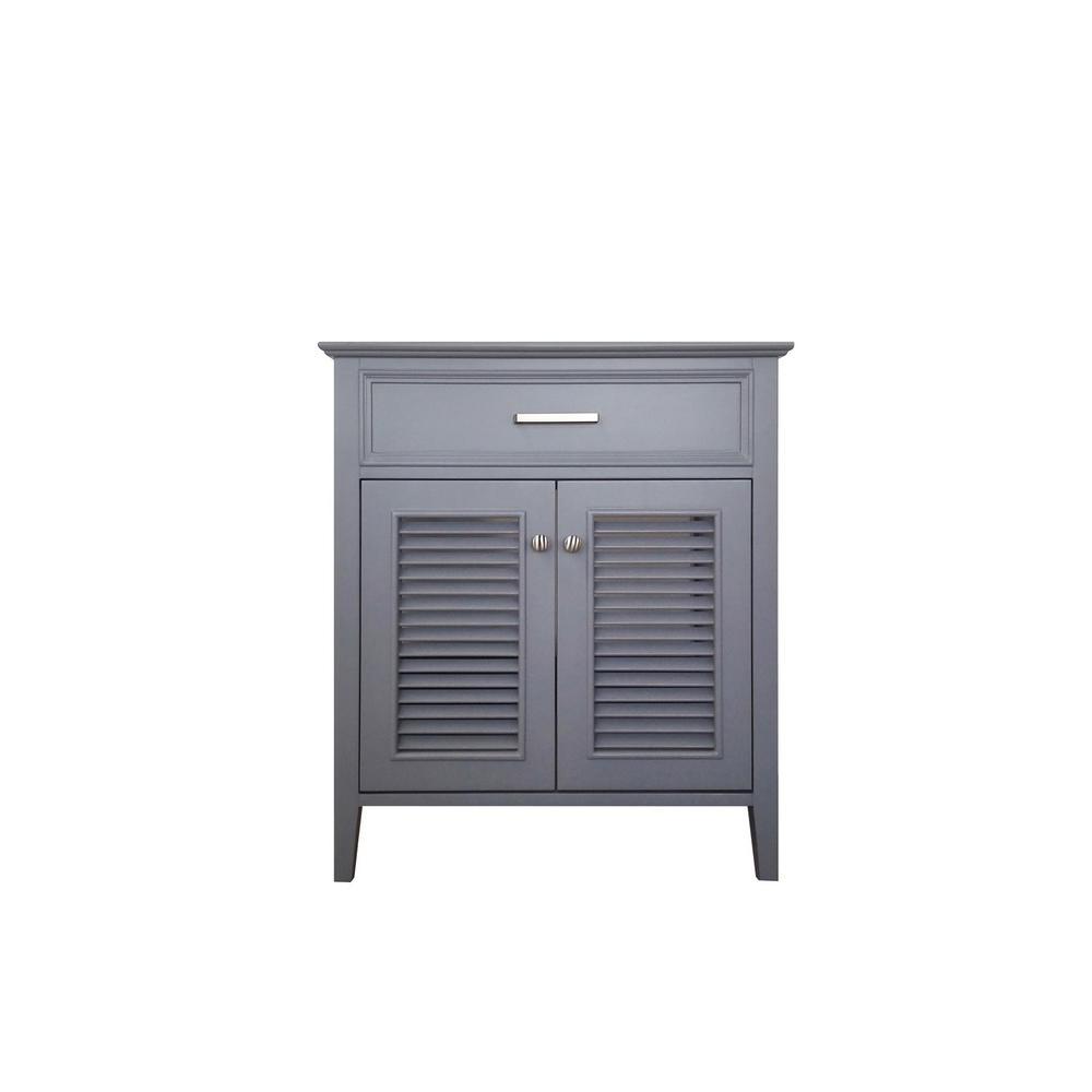 Kensington 31 in. Bath Vanity Cabinet Only in Grey