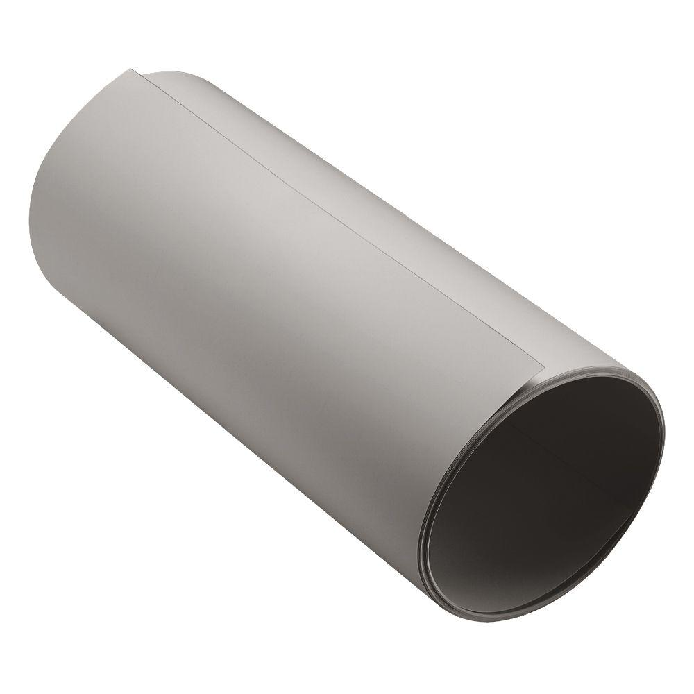 24 in. Pewter/Shaded Gray Smooth Aluminum Trim Coil