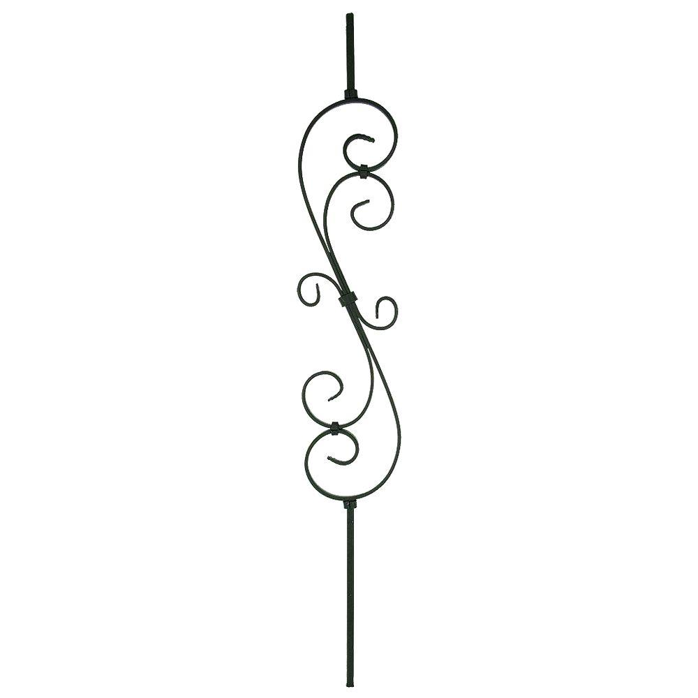 Stair Parts 44 In. X 7 1/2 In. Finished Metal Scroll