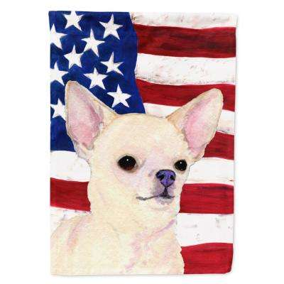 0.91 ft. x 1.29 ft. Polyester USA American 2-Sided 2-Ply Flag with Chihuahua Garden Flag