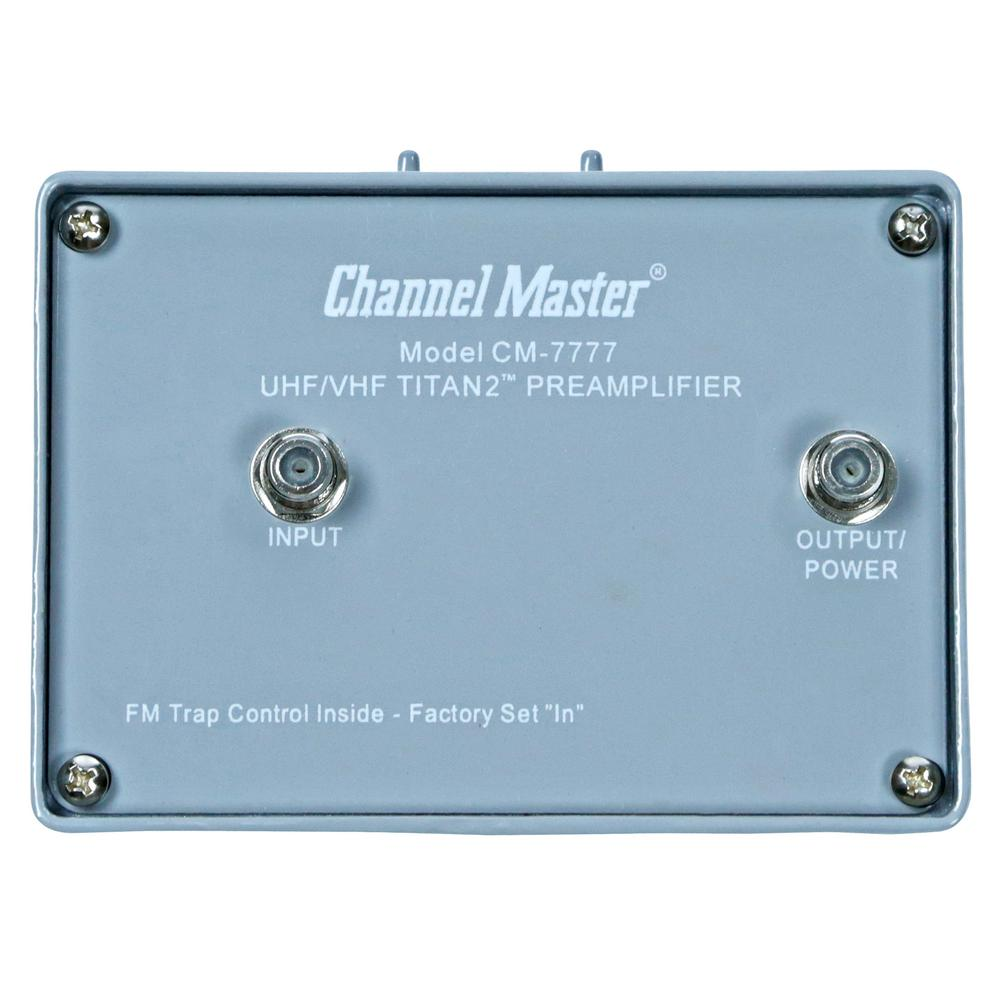 Channel Master Titan 2 High Gain Preamplifier Mast Mounted TV Antenna  Signal Booster