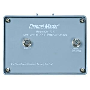 Channel Master Titan 2 High Gain Preamplifier Mast Mounted