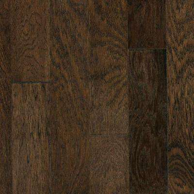 Take Home Sample - Brushed Vintage Hickory Ale Engineered Click Hardwood Flooring - 5 in. x 7 in.