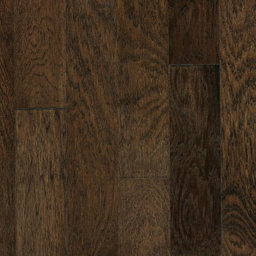 Heritage Mill Take Home Sample Brushed Vintage Hickory Ale Engineered Click Hardwood Flooring 5 In. X 7 In.