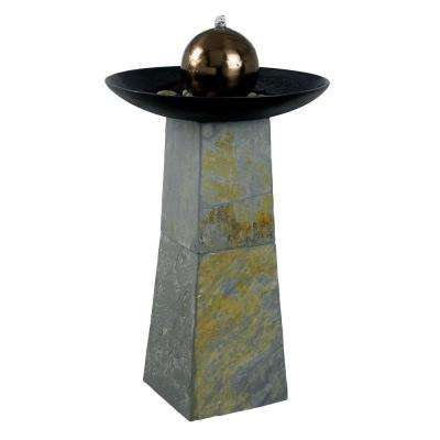 Sleek Indoor and Outdoor 35 in. Floor Fountain