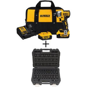 Dewalt 20-Volt MAX XR Lithium-Ion Cordless 3/8 inch Brushless Impact Wrench Kit with Bonus 3/8 inch Drive Impact Socket... by DEWALT