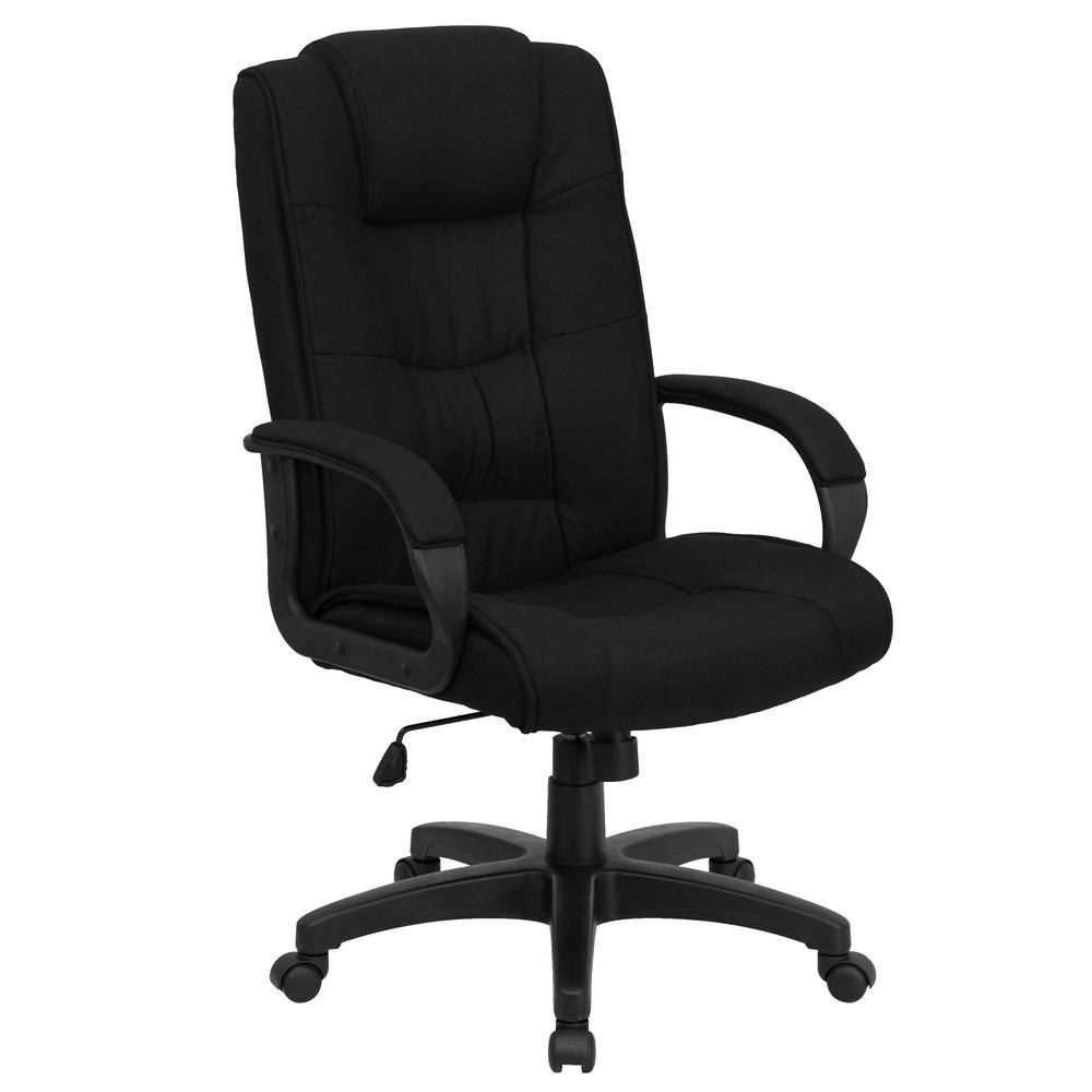 High Back Black Fabric Executive Swivel Office Chair