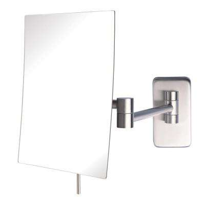 9 in. x 10 in. Wall Makeup Mirror in Nickel