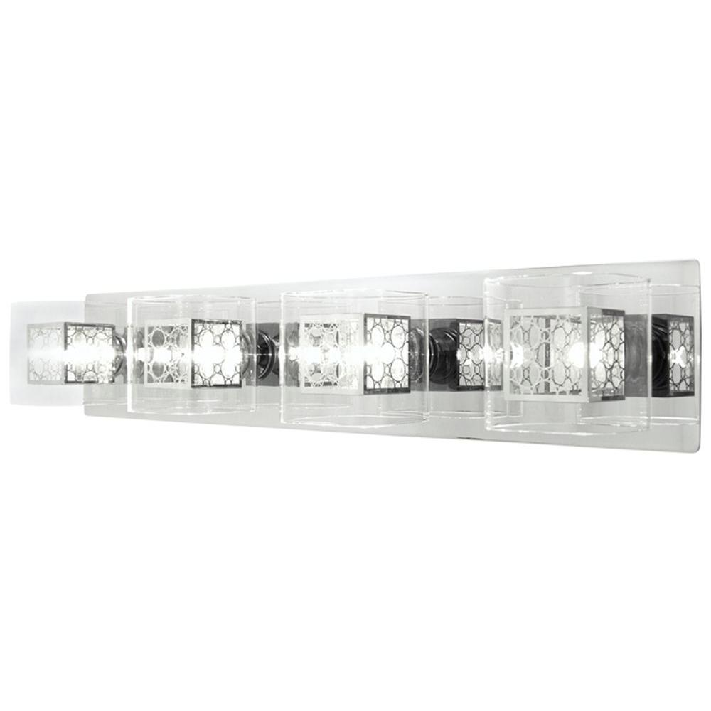 Drioleg 4-Light Chrome Bath Vanity Light
