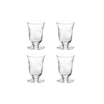 Arcadia 12 oz. 4-Piece Clear Etched Water Glass