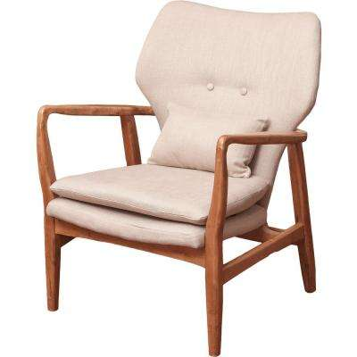 Haddie Beige Fabric Club Chair