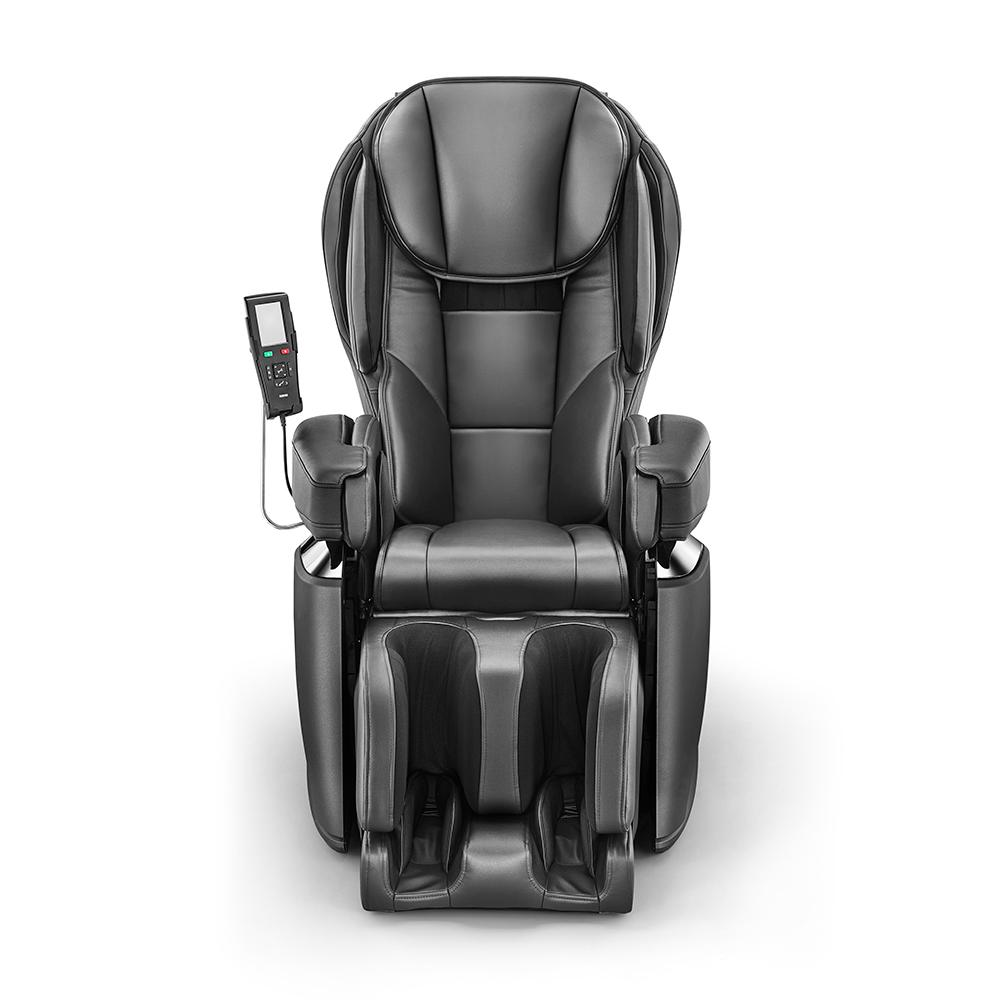 Black Modern Synthetic Leather Premium Made in Japan 4D Massage Chair
