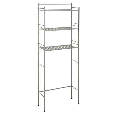 Slat Style 24 in. W x 9.5 in. D x 64.5 in. H Spacesaver in Nickel