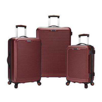 Savannah 3-Piece Red Hard Side Spinner Luggage Set