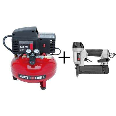 3.5 Gal. Portable Electric Compressor with Bonus Pin Nailer